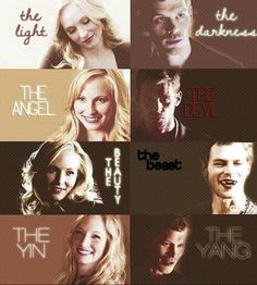 "The Vampire Diaries - Candice Accola as Caroline Forbes  Joseph Morgan as Niklaus ""Klaus"" Mikealson"