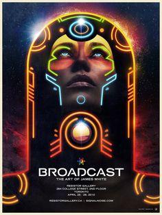 Retro Cosmic by James White, via Behance