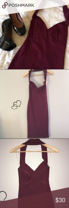 Selling this Burgundy body con Halter Dress on Poshmark! My username is: infinitelyposh. #shopmycloset #poshmark #fashion #shopping #style #forsale #Dresses & Skirts