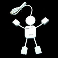 Cute USB 2.0 Hub with 4 Ports Man for PC