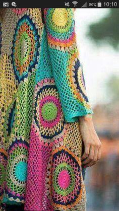 Pull Crochet, Form Crochet, Crochet World, Crochet Top, Crochet Cardigan Pattern, Crochet Patterns, Summer Sweaters, Hippie Chic, Boho Fashion