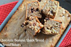 Chocolate Banana Quick Bread #BreadBakers