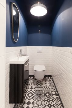 Small Downstairs Toilet, Small Toilet Room, Small Bathroom With Shower, Downstairs Bathroom, Bad Inspiration, Bathroom Inspiration, Ideas Baños, Bathroom Repair, Modern Farmhouse Bathroom