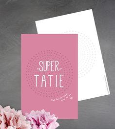 Carte 'Super tatie' c'est bon de t'avoir dans ma vie : Cartes par suite-creative-babies