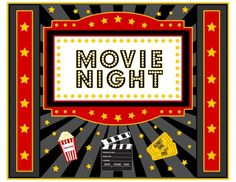 Free Movie Night printable! #freeprintables movienight