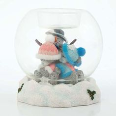 Snow Light Me to You Bear Figurine