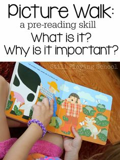 Prior to reading, early and veteran readers alike should preview a book by taking a picture walk. What is a picture walk? Why is it importa...