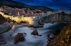 A View At Dubrovnik At Night, Croatia Photography By: Andrew Turner