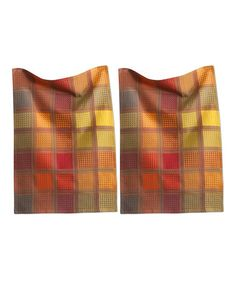 Loving this Red & Yellow Waffle Checkerboard Dish Towel - Set of Two on #zulily! #zulilyfinds