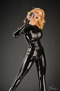 Bianca Beauchamp 【Model】black latex catsuit