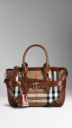 SMALL BRIDLE HOUSE CHECK TOTE BAG - I thought I saw a better version of this one earlier this year (?)