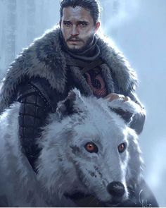 Jon Snow finally giving Ghost the pets he didn't get a few episodes ago on Game of Thrones. John Snow, Arte Game Of Thrones, Game Of Thrones Artwork, Game Of Thrones Characters, Jon Schnee, Character Art, Character Design, Game Of Thones, King In The North