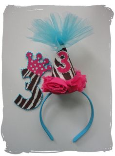 Funky Zebra an Rose Party Hat DEAL 1 2 3 4 5 6 7 8 by 4f1712d9811