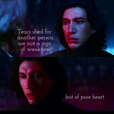 José N. Harris, MI VIDA: A Story of Faith, Hope and Love / Kylo Ren -- I think his tears in this seen were just as much for himself as they were for Han