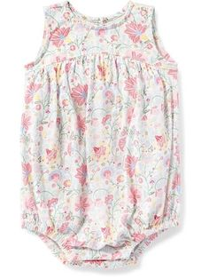 Floral Bubble Romper for Baby