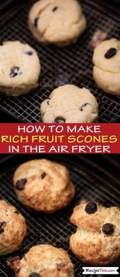 Air Fryer Rich Fruit Scones | How to make the best ever British rich fruit #scones in the #airfryer