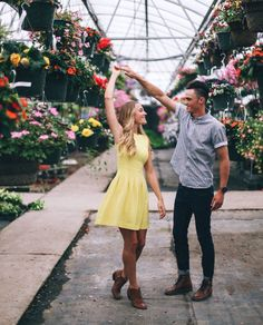 Such a cute place to take engagement shots!