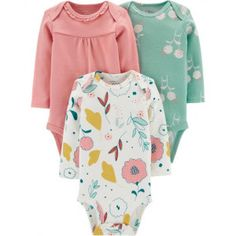 Little Planet Organic by Carters Baby Girls' Floral Bodysuits – Green Newborn, Girl's – Baby For look here Body Manga Longa, Carters Baby Girl, Baby Girls, Toddler Girls, Little Planet, Floral Bodysuit, Boy Shoes, Girls Shoes, Cute Baby Clothes