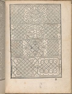 New Modelbüch allen Nägerin u. Sydenstickern (Page 5r).  Hans Hoffmann.  1556.