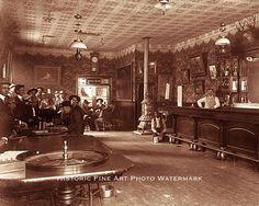 OLD WEST SALOON GAMBLING HALL VINTAGE PHOTO GAMBLERS BARTENDER 8x10 #21532