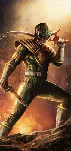 Ok maybe not lol but if you know much about me you'll realize that I was a major fan of the original Mighty Morphin Power Rangers. In fact, of all the rangers it's Tommy the Green Ranger that reall. Power Rangers 2017, Power Rangers Fan Art, Mighty Morphin Power Rangers, Ranger Verde, Desenho Do Power Rangers, Geeks, Green Power Ranger, Pawer Rangers, Cultura Pop