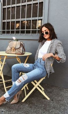 Monday outfit inspo 💥Having the perfect blazer makes getting ready in the morning a breeze. Just add a coffee and go! Style Outfits, Blazer Outfits, Fall Outfits, Casual Outfits, Cute Outfits, Fashion Outfits, Fashion Trends, Fashion News, Casual Wear Women