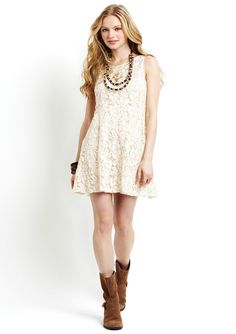 Very cute spring boho chic lace dress by Free People. $70