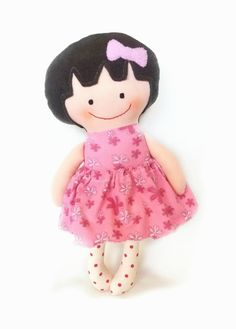 Handmade Rag Doll Cloth Doll Toddler Gift by Fairybugcreativetoys