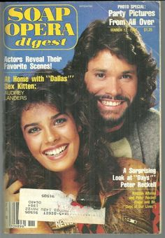Kristian Alfonso and Peter Reckell From Days of Our Lives on the Cover