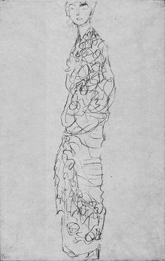Standing Woman in Kimono (Dame im Kimono) - Gustav Klimt