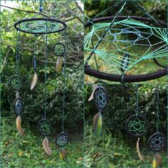 UV Spiral Dreamcatcher   Blue and Green colours  by PsyMagic, €40.00