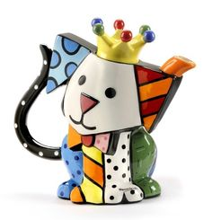 Buy Romero Britto - Teapot Dog online and save! Ceramic and hand painted teapot with a funky dog design. Romero Britto is a Brazilian born artist, often called the leading pop artist . Pop Art, Teapots Unique, Tea Pot Set, Teapots And Cups, Dog Design, Pandora Jewelry, Decoration, Tea Time, Tea Party
