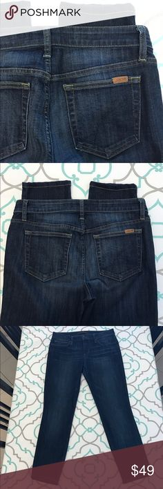 """💙👖Cute Joe's Jeans Skinnies👖💙29 7/8 27"""" Inseam 💙👖Cute Joe's Jeans Skinny Jeans👖💙 Size 29 (7/8). 27.25"""" Inseam. (Ankle Length Or Long Capri if you tall.) Hemmed. 9.25"""" Rise. Mid Rise. 15.6"""" Across Back. Awesome Stretch. Dark Blue Wash. Cute Rolled Up. Excellent Used Condition. So Pretty! Joe's! Anthropologie! Ask me any questions! : ) Joe's Jeans Jeans Skinny"""