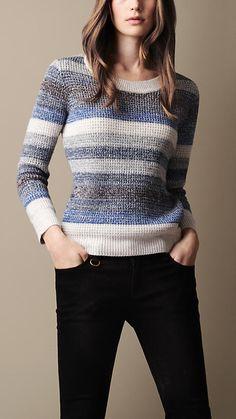 Striped Mouliné Sweater | Burberry