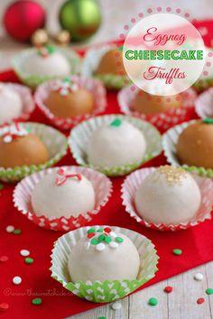 Eggnog Cheesecake Truffles on MyRecipeMagic.com