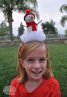 Snowman Headband by Club Chica Circle