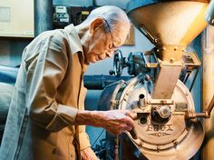 Meet Ginza's 'coffee godfather' (Editors, Time Out Tokyo, 29 September 2016,) Café de l'Ambre, which has been keeping the Ginza hordes well caffeinated since 1948. Remarkably, it's still run by the same man – Ichiro Sekiguchi, who turned 102 this May.