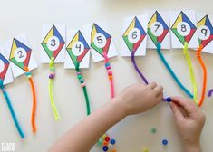 Adorable preschool counting activity with kites! MATHEMATIC HISTORY Mathematics is one of the oldest sciences Summer Preschool Activities, Numeracy Activities, Preschool Weather, Holiday Activities, Preschool Crafts, Counting Activities, Preschool Ideas, Preschool Centers, Preschool Learning