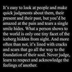 I never judge! I've been thru enough to know not to:-)