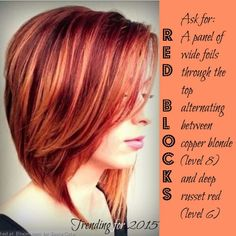 Copper blonde & russet red