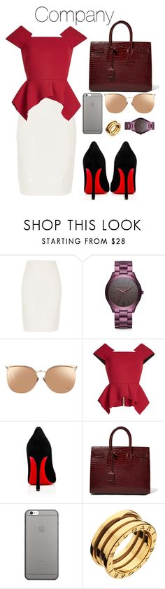 """""""Sem título #1173"""" by army-forever ❤ liked on Polyvore featuring River Island, Michael Kors, Linda Farrow, Roland Mouret, Christian Louboutin, Yves Saint Laurent, Native Union and Bulgari"""