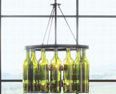Wine bottle light fixture (Circular) - Not quite what I want, but close...
