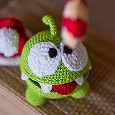 Om Nom (Cut the Rope) amigurumi crochet pattern by AradiyaToys