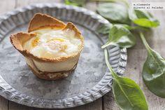 Huevos al horno en tartaleta de pan. receta con fotos del paso a paso y sugerencias de presentación. Consejos de elaboración. Recetas de huevos y...