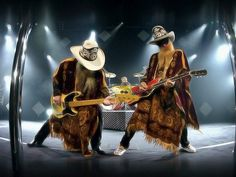 """ZZ Top ~ """"The crowd gets loud when the band gets right, steel guitar cryin' through the night 🎸"""""""