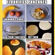 Cloudless pancakes