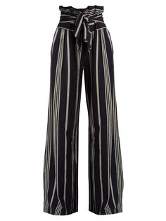 Paperbag-waist wide-leg cotton trousers | Ace & Jig | MATCHESFASHION.COM US