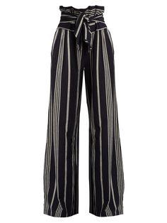 Paperbag-waist wide-leg cotton trousers | Ace & Jig | MATCHESFASHION.COM US