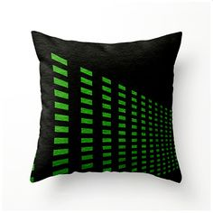 Black and Green Geometric decorative throw pillow