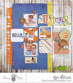 kim watson ★ paper crafts ★ designs: Sketchy Summer + a FREE cut file.